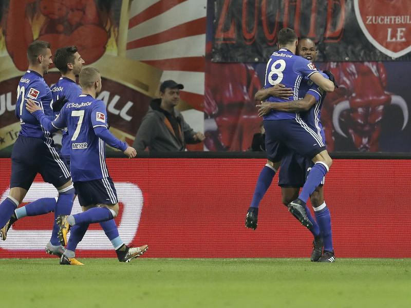 Schalke oslavuje strelený gól