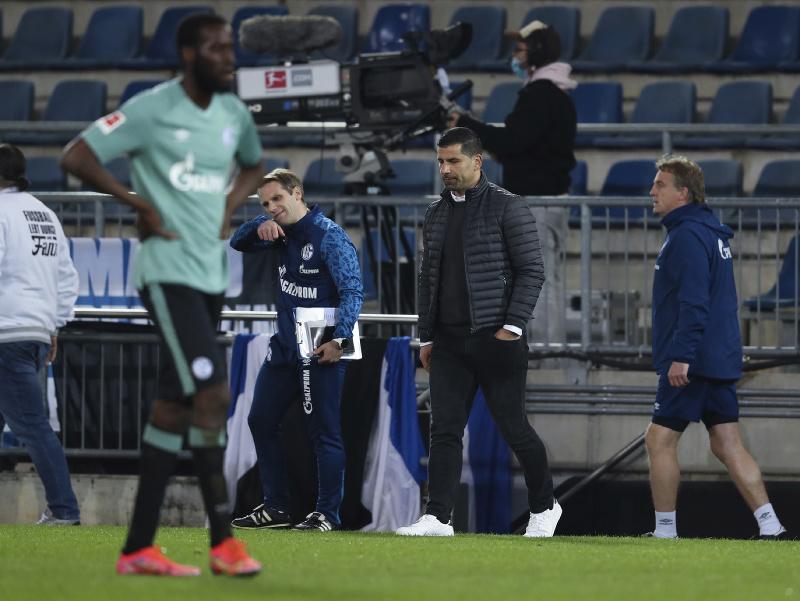 Tréner Schalke Dimitrios Grammozis po zápase