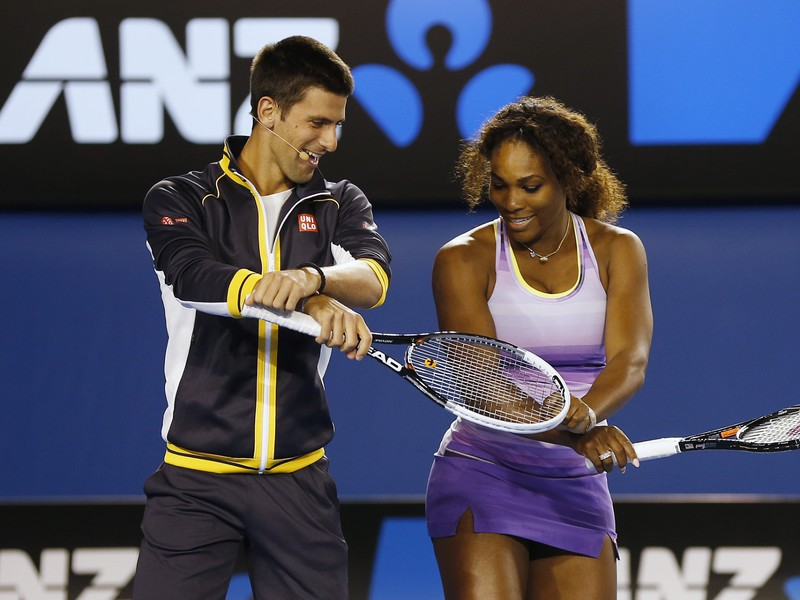 Novak Djokovič a Serena Williamsová