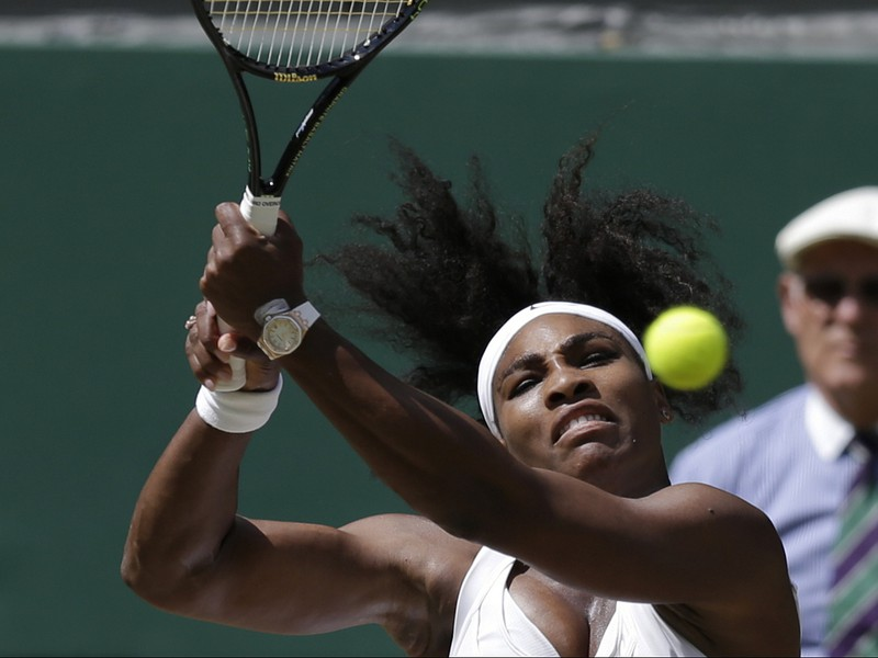 Serena Williamsová vo finále Wimbledonu