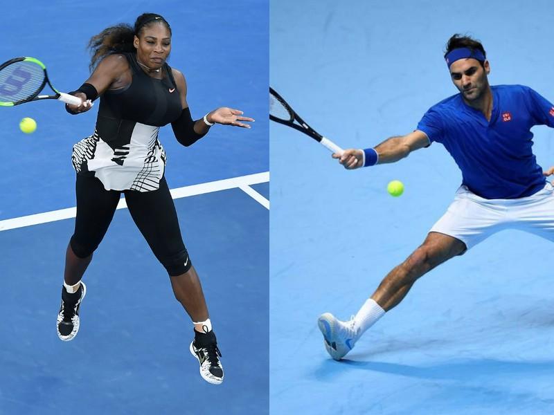 Serena Williamsová a Roger Federer