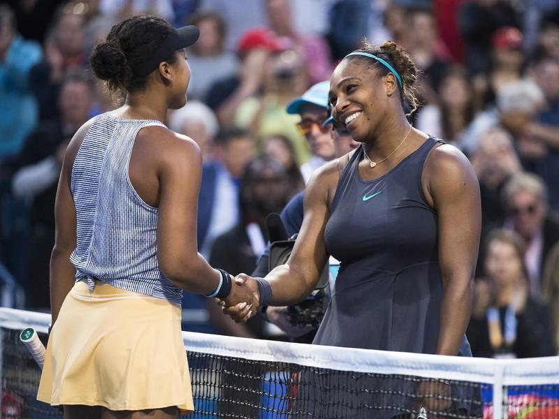 Naomi Osaková a Serena Williamsová