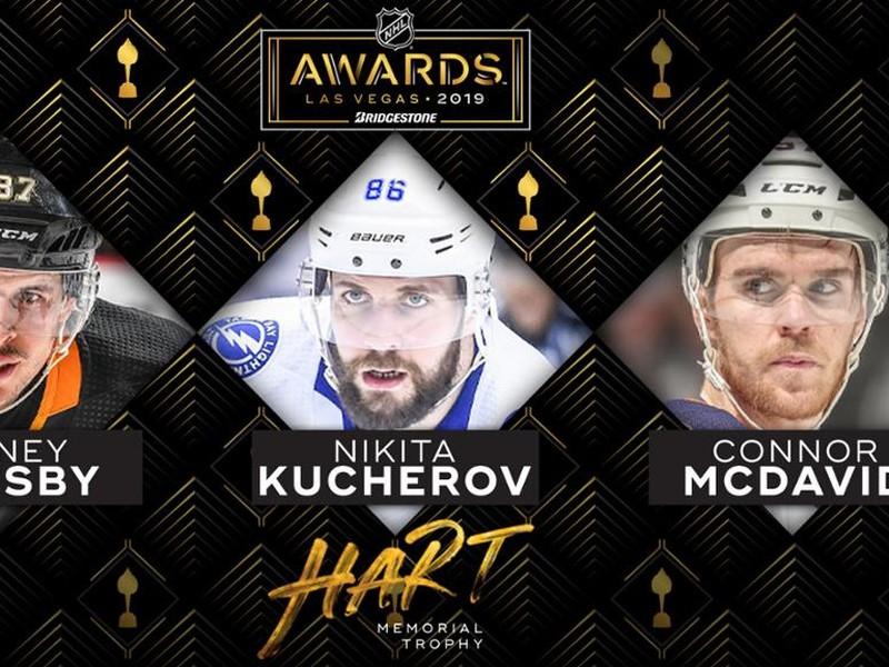 Sidney Crosby, Nikita Kučerov alebo Connor McDavid získa Hartovu trofej