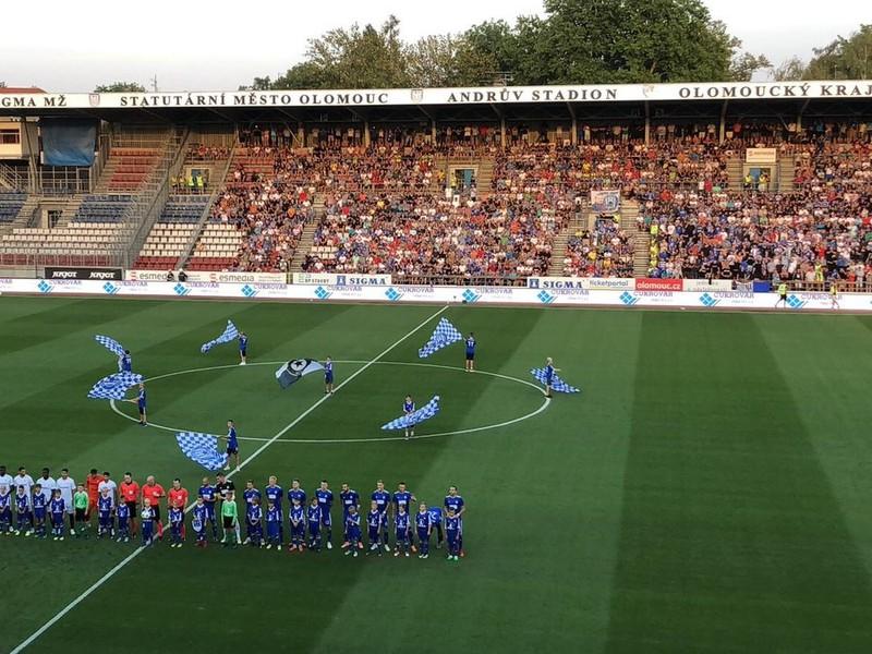 Snímka zo zápasu Olomouc - Sevilla