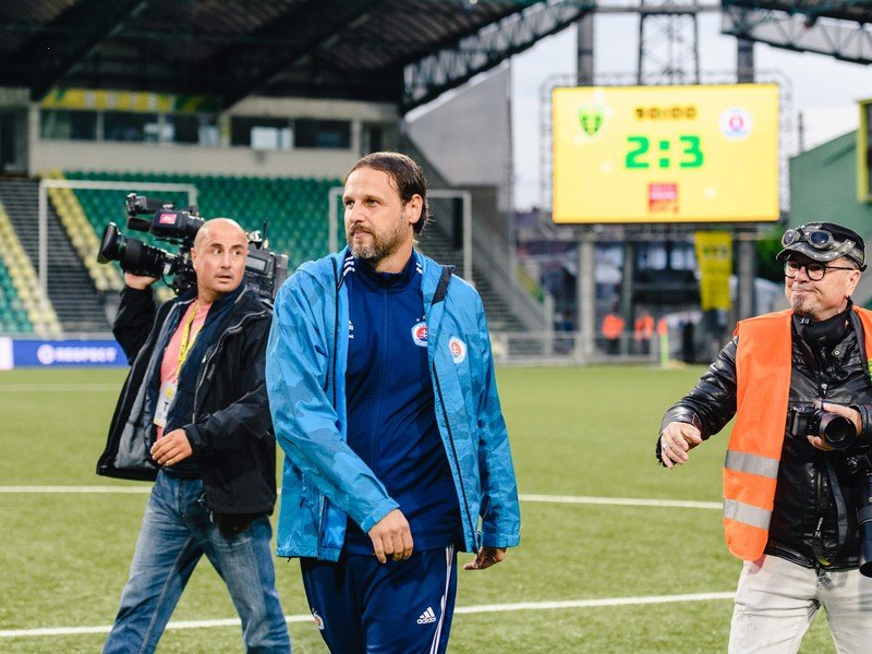 Tréner ŠK Slovan Bratislava Ján Kozák ml.