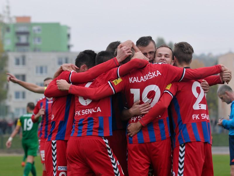Gólové oslavy futbalistov Senice