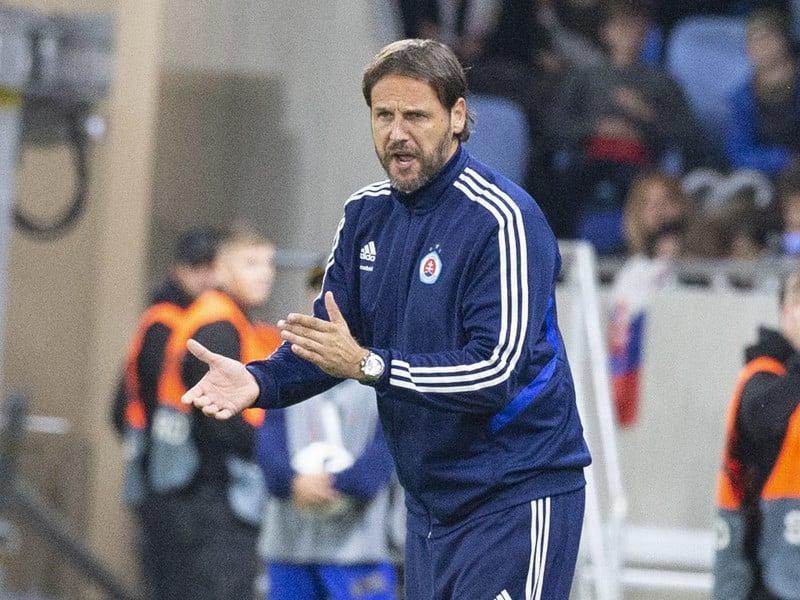 Tréner Slovana Ján Kozák ml.