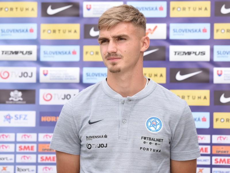 Hráč slovenskej futbalovej reprezentácie do 21 rokov Peter Pokorný