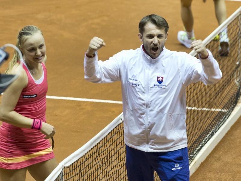 Kapitán tímu Slovenska Matej Lipták a Rebecca Šramková