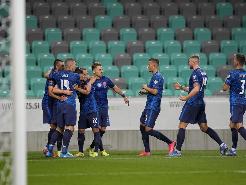 Gólové oslavy hráčom Slovenska