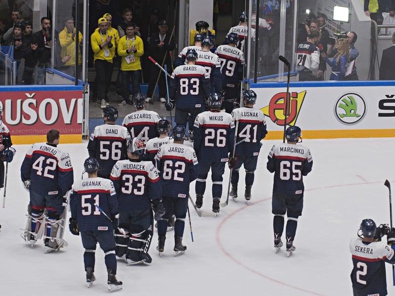 Slovenskí hokejisti sa lúčia s turnajom