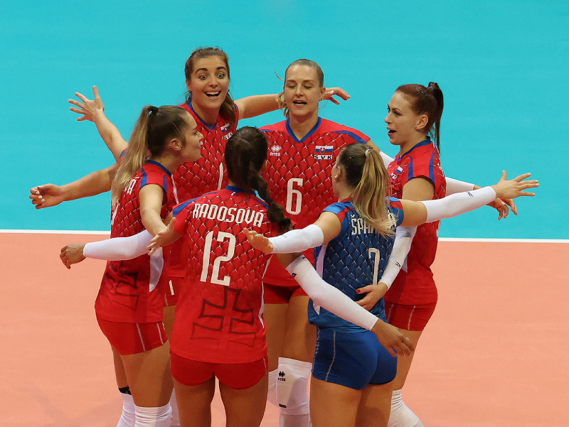 Slovenské hráčky na ME vo volejbale žien