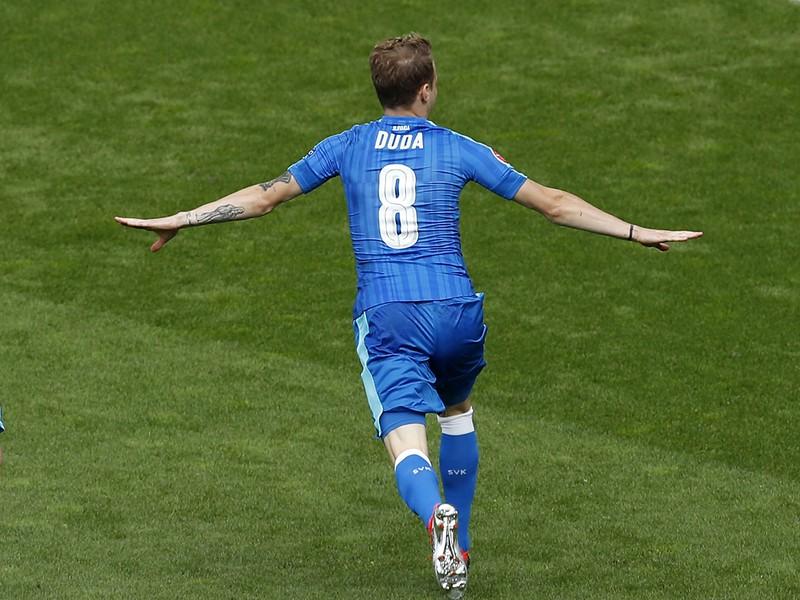 Ondrej Duda a jeho obrovská radosť po góle