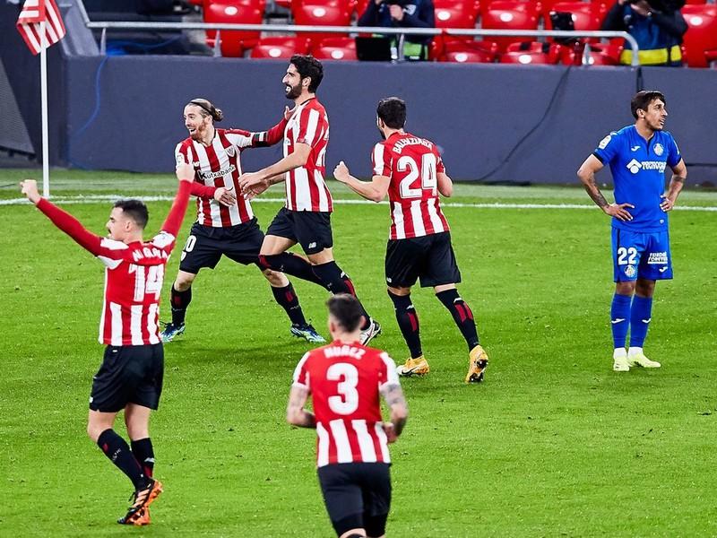 Gólové oslavy futbalistov Athletic Bilbao