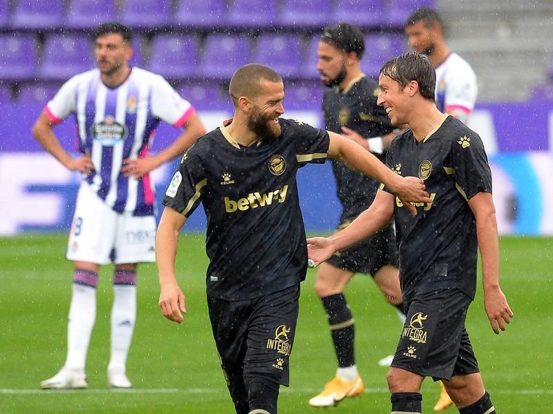 Gólové oslavy futbalistov Deportivo Alaves