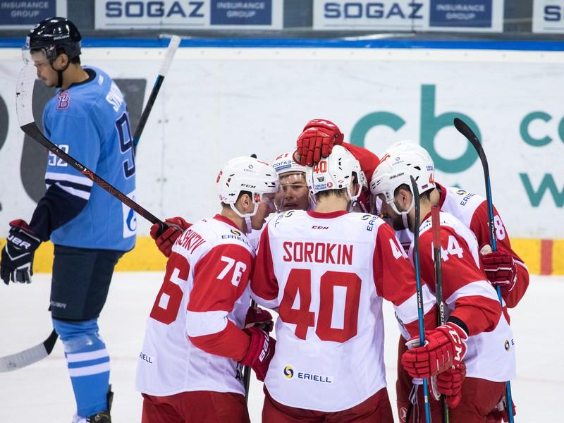 Radosť hráčov Spartak Moskva