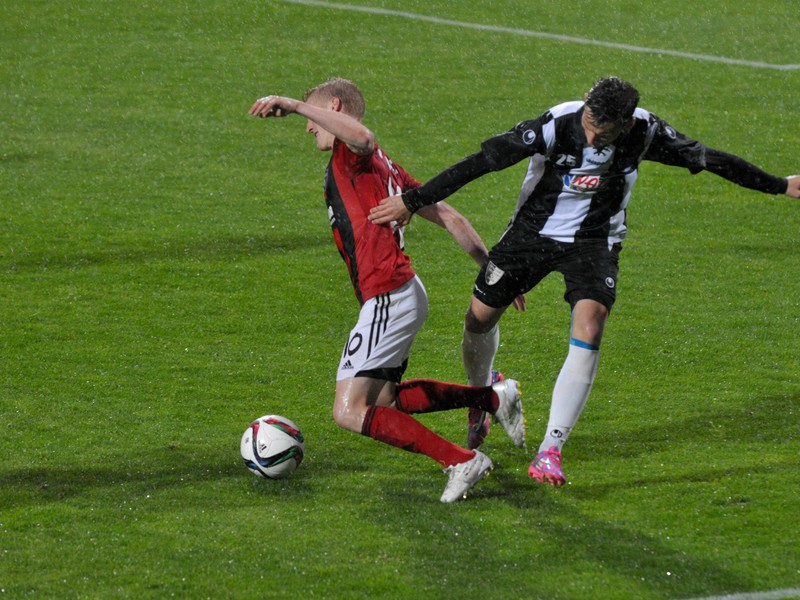 Denis Švec zo Spartak Myjava a Ján Vlasko z FC Spartak Trnava
