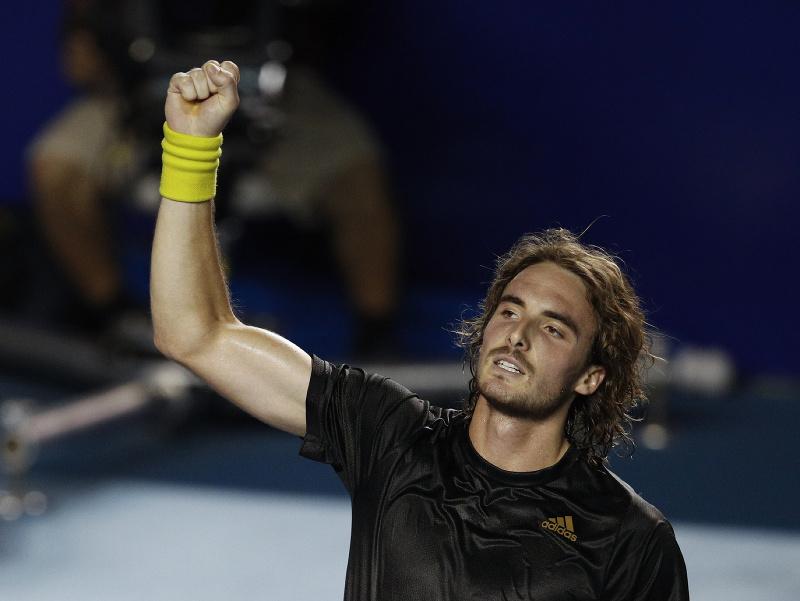 Stefanos Tsitsipas v semifinále turnaja v Acapulcu