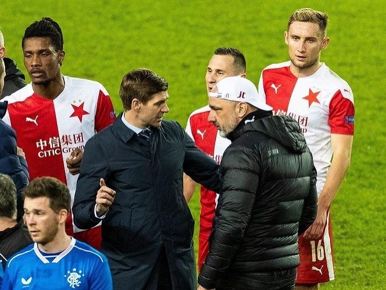 Steven Gerrard a Jindřich Trpišovský