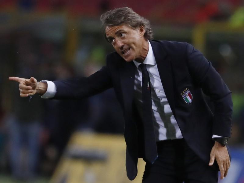 Tréner talianskej futbalovej reprezentácie Roberto Mancini