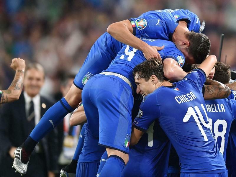 Oslavy talianskych futbalistov