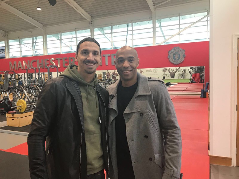 Zlatan Ibrahimovič a Thierry Henry