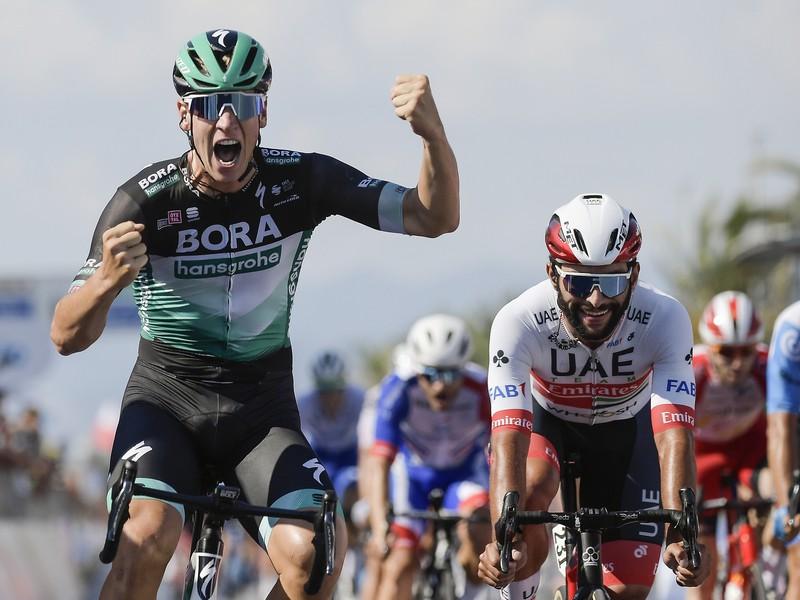 Pascal Ackermann sa raduje z víťazstva