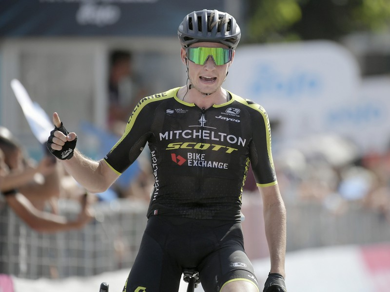Austrálsky cyklista Lucas Hamilton po triumfe v 4. etape Tirreno Adriatico