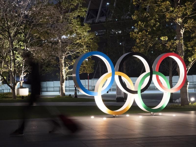 Olympijské kruhy v Tokiu