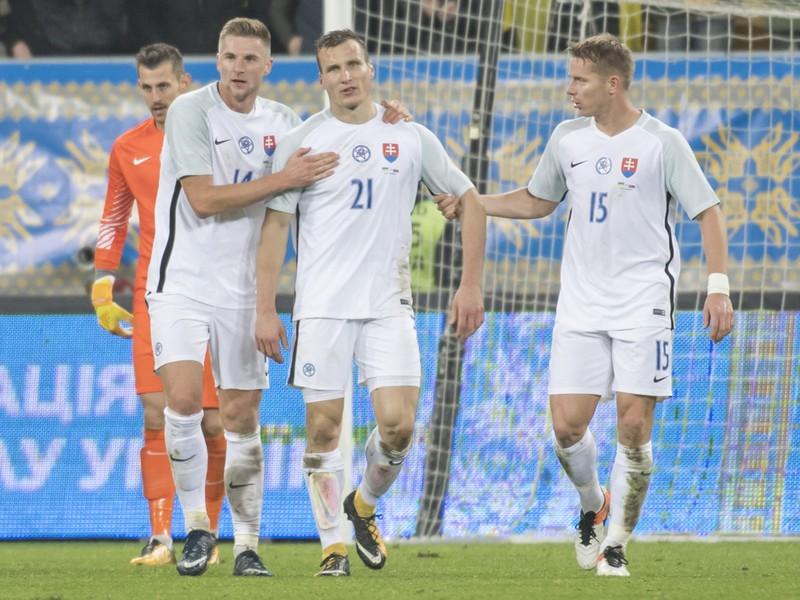 Milan Škriniar, Lukáš Štetina a Tomáš Hubočan