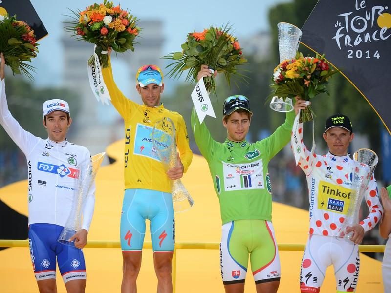 Thibaut Pinot, Vincenzo Nibali, Peter Sagan a Rafal Majka