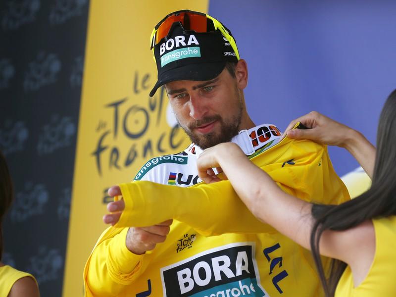 Peter Sagan v žltom drese
