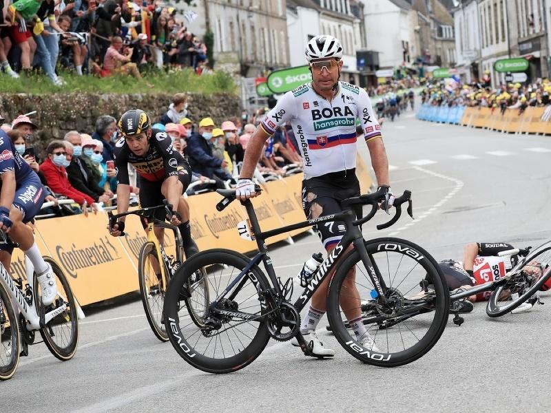 Peter Sagan po páde v tretej etape Tour de France