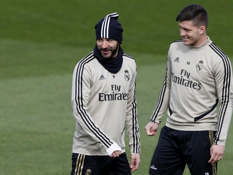 Karim Benzema a Luka Jovič