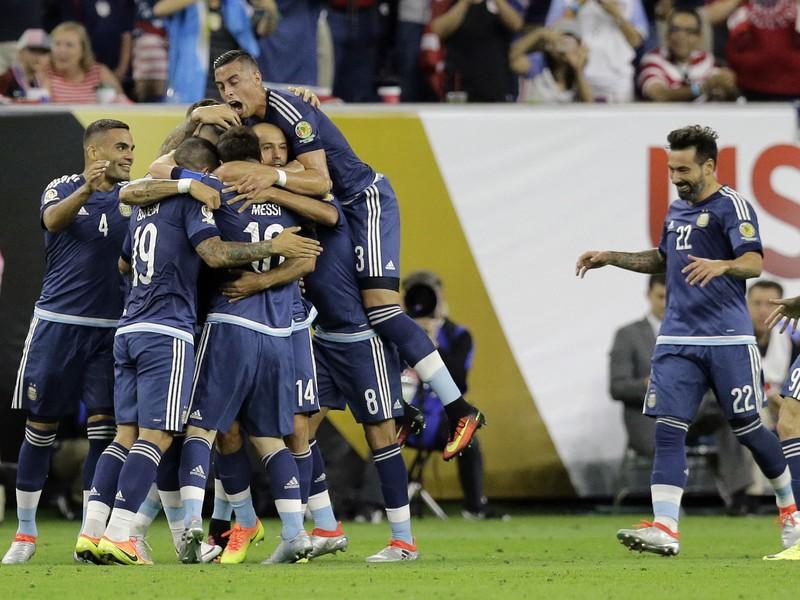 Radosť hráčov Argentíny
