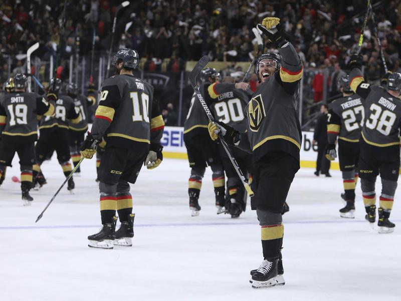 Vegas Golden oslavuje víťazstvo