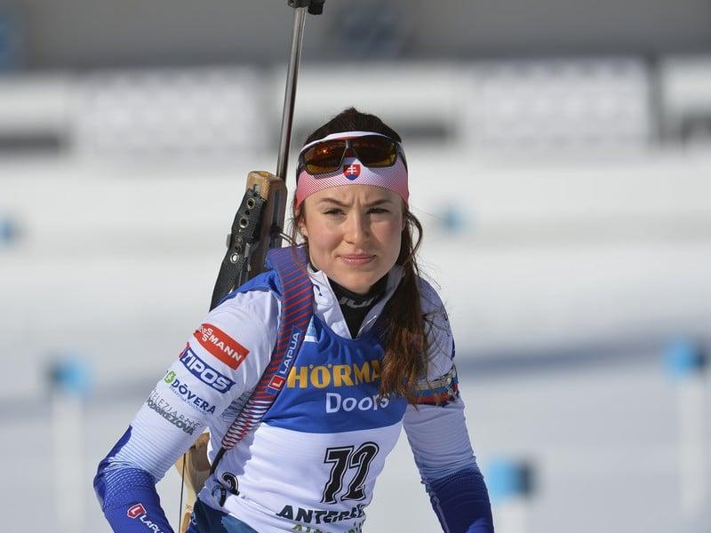 Na snímke slovenská biatlonistka Veronika Machyniaková