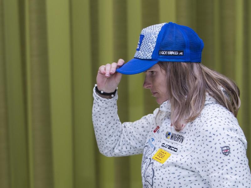 Veronika Velez-Zuzulová počas tlačovej konferencie v Jasnej