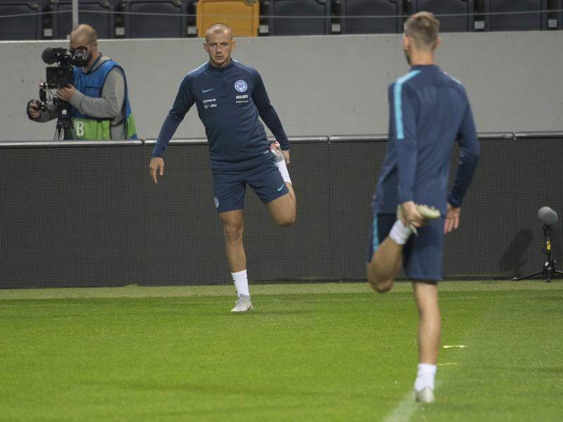 Na snímke slovenský futbalista Vladimír Weiss ml. počas tréningu