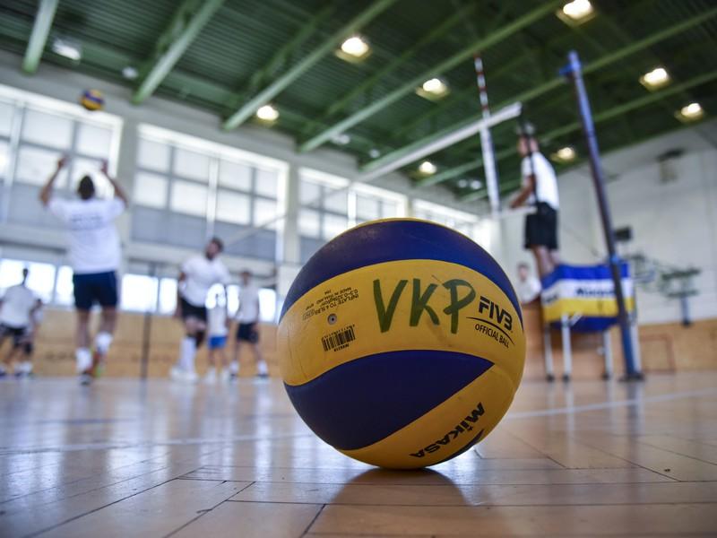 Snímka z tréningu volejbalového klubu mužov VKP Bratislava