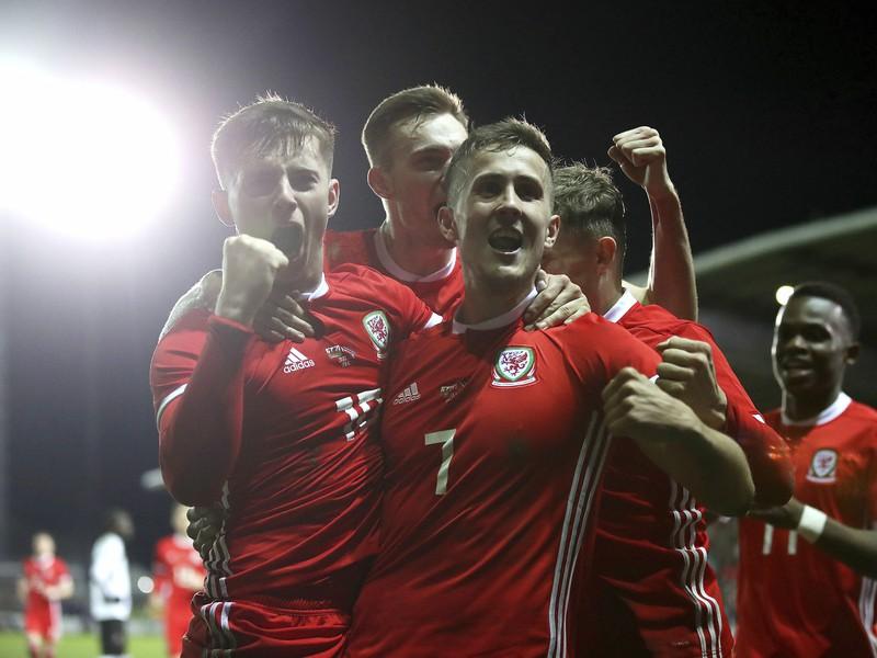 Radosť hráčov Walesu
