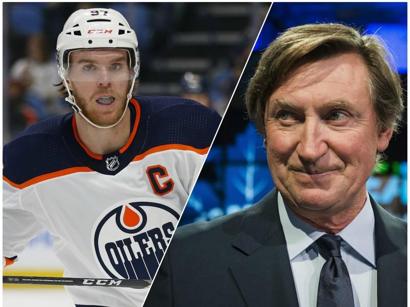 Connor McDavid a Wayne Gretzky