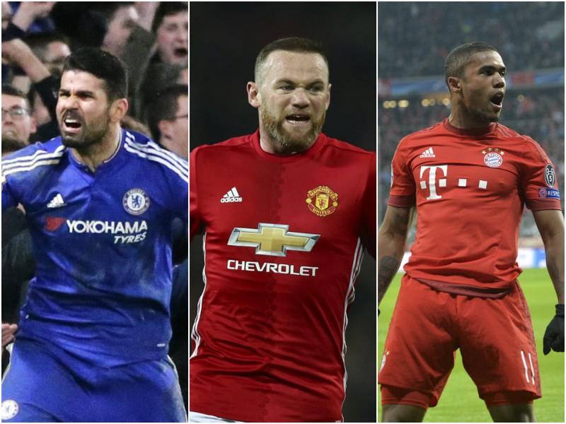 Diego Costa, Wayne Rooney, Douglas Costa