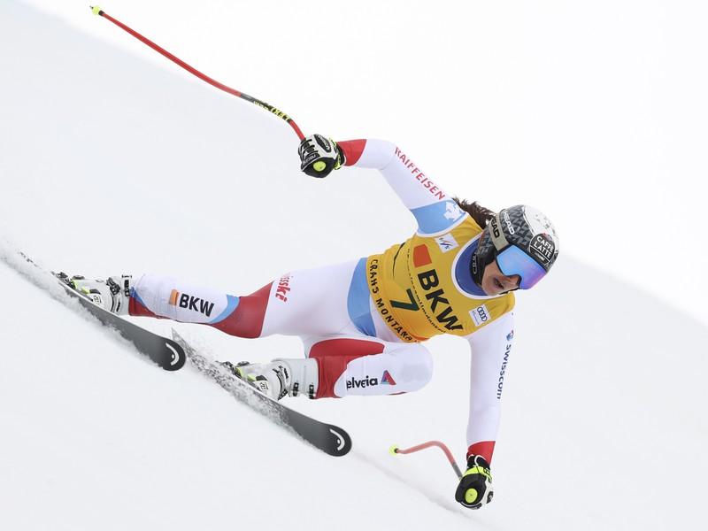Wendy Holdenerová počas pretekov Svetového pohára