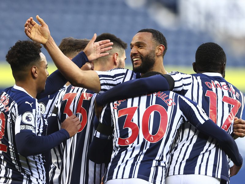 Radosť futbalistov West Bromwich Albion