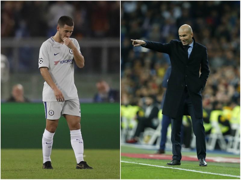 Eden Hazard a Zinedine Zidane