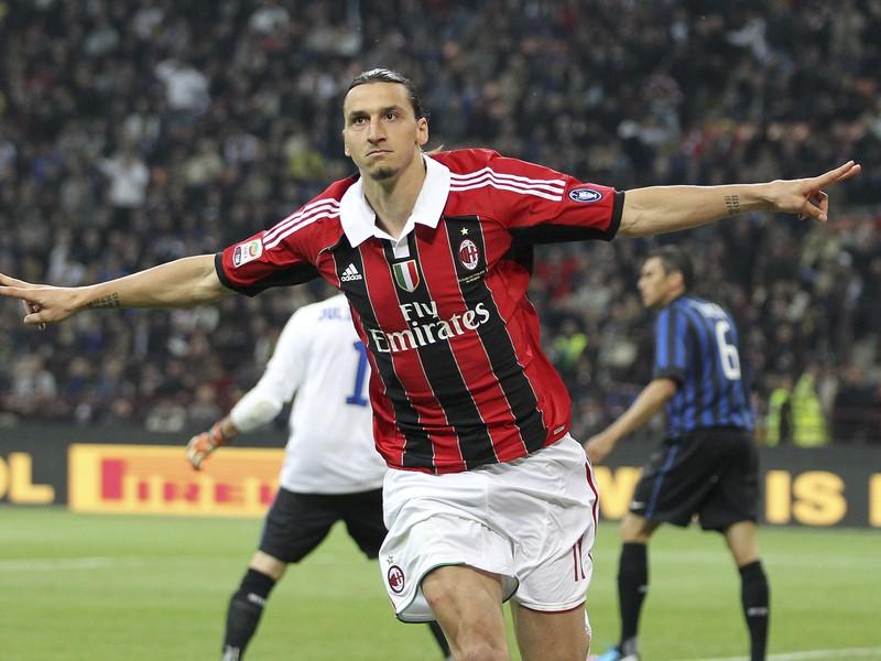 Zlatan Ibrahimovič v drese milánskeho AC