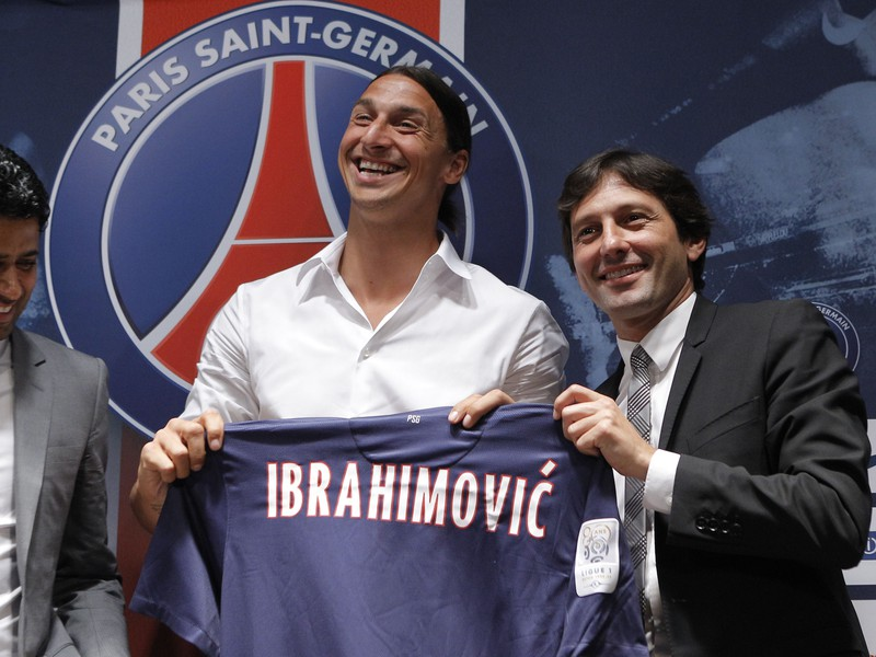 Leonardo (vpravo) a kontroverzná hviezda PSG Zlatan Ibrahimovič