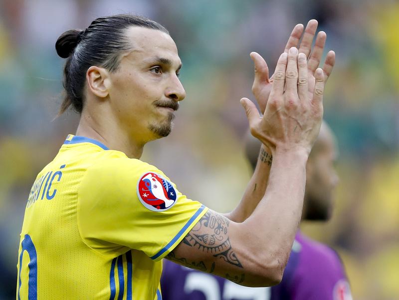 Zlatan Ibrahimovič v drese Švédska