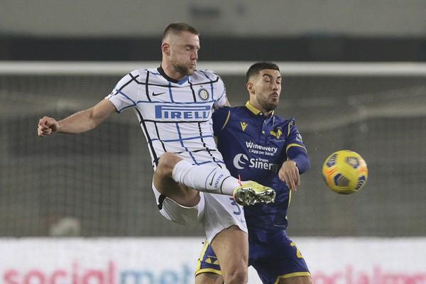 Milan Škriniar v zápase